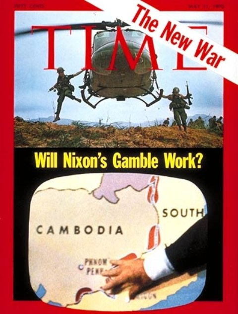 President Nixon announces the invasion of Cambodia